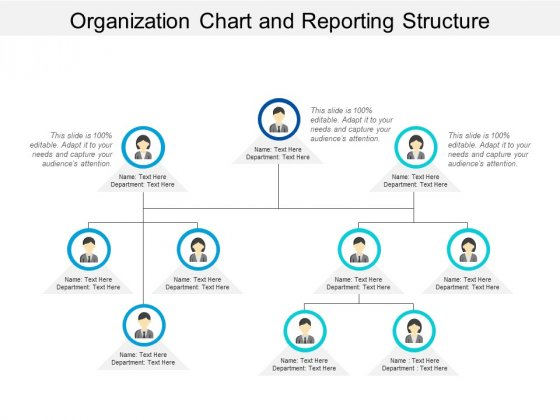 Organization Chart And Reporting Structure Ppt PowerPoint Presentation Styles Grid