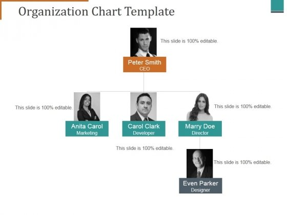 Organization Chart Template Ppt Point Presentation File Topics Slide 1 2