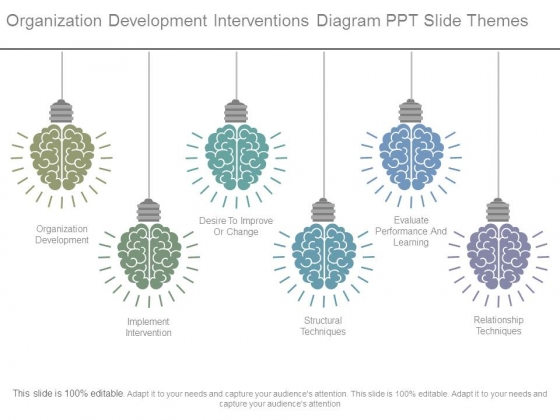 Organization Development Interventions Diagram Ppt Slide Themes