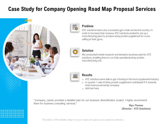 Organization Inception Timeline Proposal Case Study For Company Opening Road Map Proposal Services Elements PDF