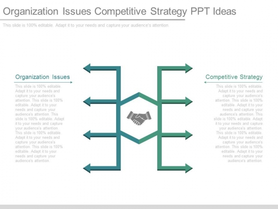 Organization Issues Competitive Strategy Ppt Ideas