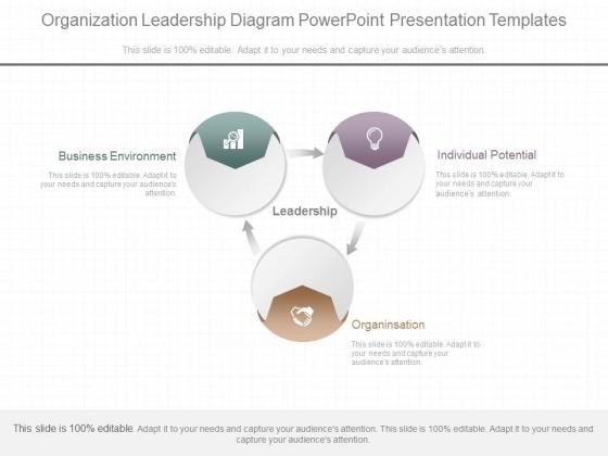 Organization Leadership Diagram Powerpoint Presentation Templates