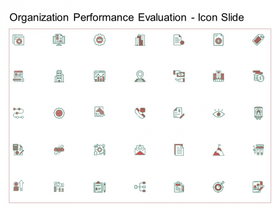 Organization Performance Evaluation Icon Slide Download PDF