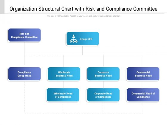 Organization Structural Chart With Risk And Compliance Committee Ppt Styles Graphics Design PDF