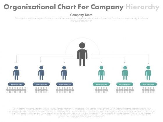 Organization Structure Chart With Two Levels Powerpoint Template ...
