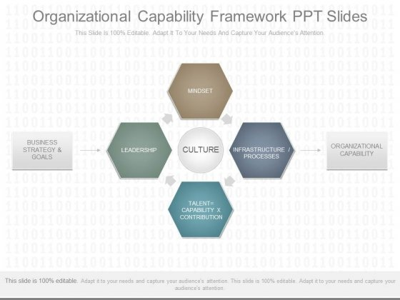Organizational Capability Framework Ppt Slides