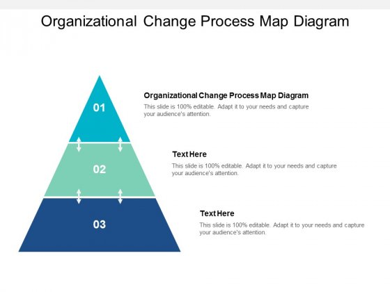 Organizational Change Process Map Diagram Ppt PowerPoint Presentation Slides Themes Cpb