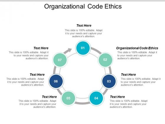 Organizational Code Ethics Ppt PowerPoint Presentation Styles Inspiration Cpb