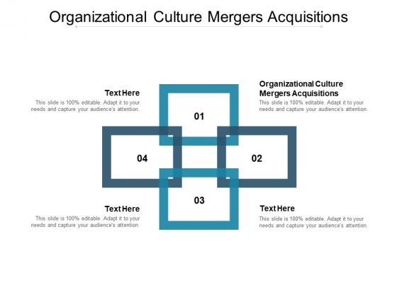 Organizational Culture Mergers Acquisitions Ppt PowerPoint Presentation Inspiration Graphics Design Cpb