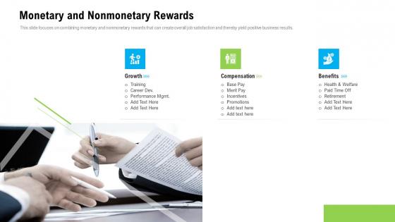 Organizational Culture Monetary And Nonmonetary Rewards Ppt Ideas Inspiration PDF