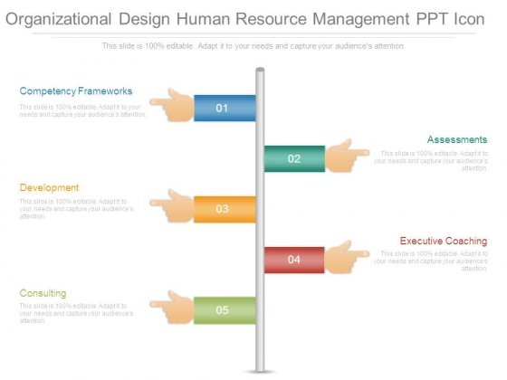 Organizational Design Human Resource Management Ppt Icon