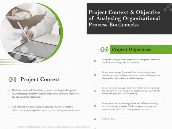 Organizational Development Project Context And Objective Of Analyzing Organizational Process Bottlenecks Guidelines PDF