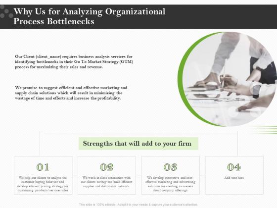 Organizational Development Why Us For Analyzing Organizational Process Bottlenecks Professional PDF