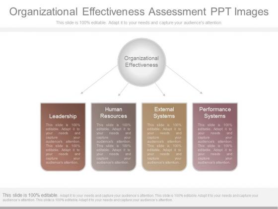 Organizational Effectiveness Assessment Ppt Images