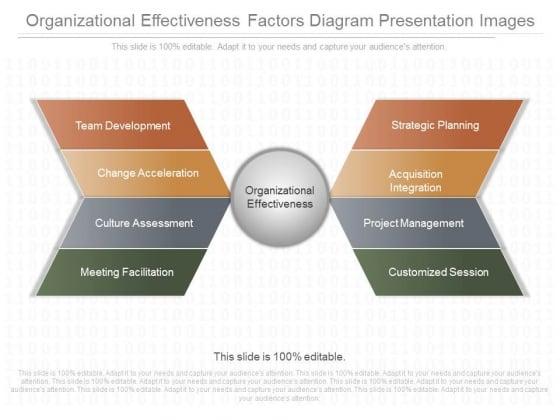Organizational Effectiveness Factors Diagram Presentation Images