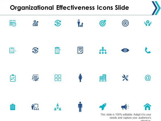 Organizational Effectiveness Icons Slide Ppt Powerpoint Presentation File Portrait