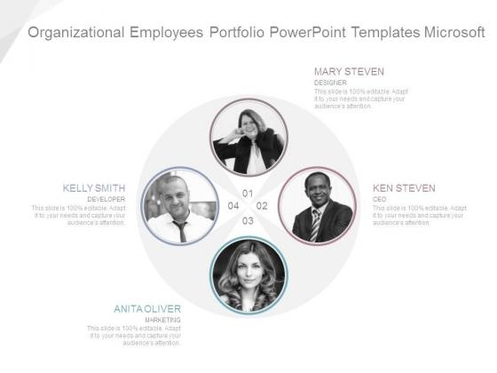 Organizational Employees Portfolio Powerpoint Templates Microsoft