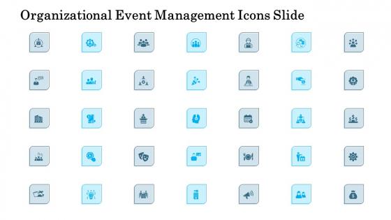 Organizational Event Management Icons Slide Background PDF