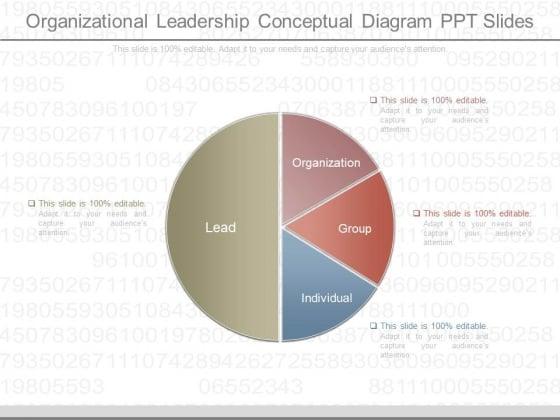 Organizational Leadership Conceptual Diagram Ppt Slides