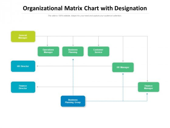 Organizational Matrix Chart With Designation Ppt PowerPoint Presentation File Infographics