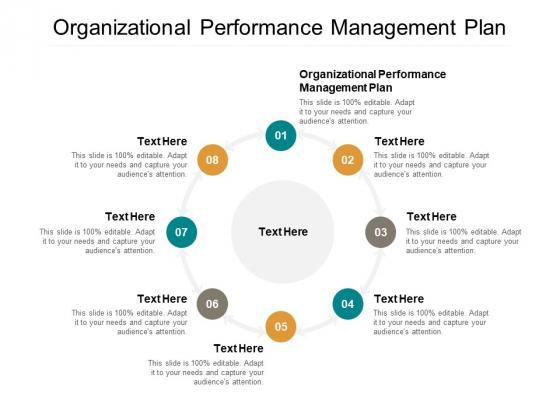 Organizational Performance Management Plan Ppt PowerPoint Presentation Guide Cpb