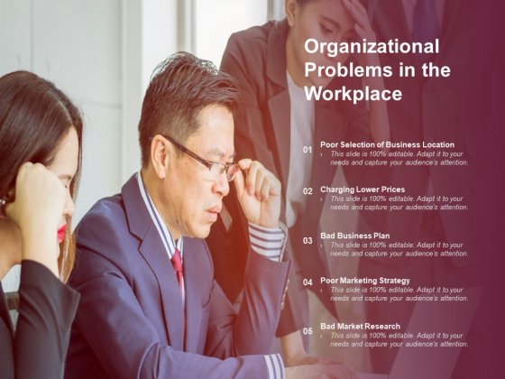 Organizational Problems In The Workplace Ppt Powerpoint Presentation Infographic Template Templates