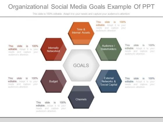 Organizational Social Media Goals Example Of Ppt