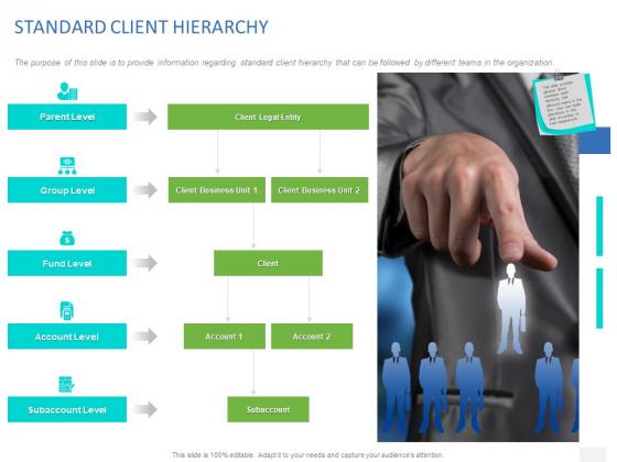 Organizational Socialization STANDARD CLIENT HIERARCHY Ppt PowerPoint Presentation Portfolio Graphics PDF