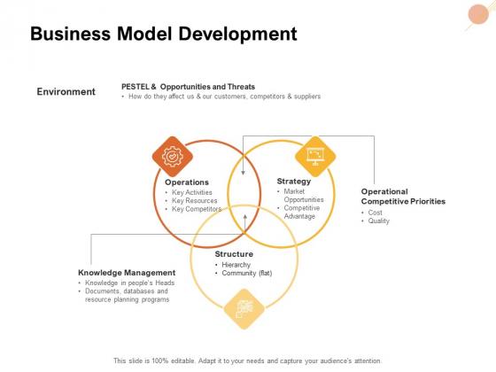 Organizational Structure Business Model Development Ppt PowerPoint Presentation Professional Graphic Tips PDF