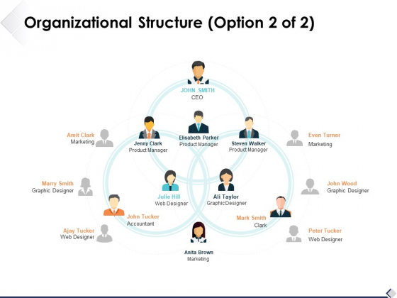 Organizational Structure Option 2 Of 2 Ppt PowerPoint Presentation Infographic Template Deck