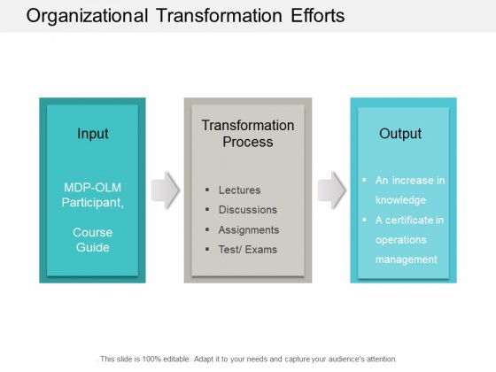 Organizational Transformation Efforts Ppt Powerpoint Presentation Show Influencers