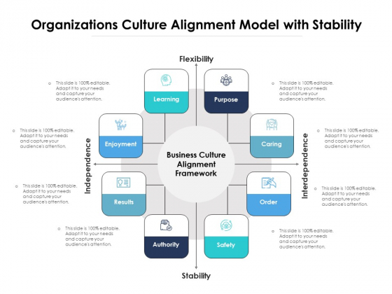 Organizations Culture Alignment Model With Stability Ppt PowerPoint Presentation File Icon PDF