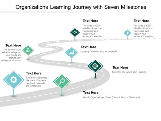 Organizations_Learning_Journey_With_Seven_Milestones_Ppt_PowerPoint_Presentation_Layouts_Aids_Slide_1