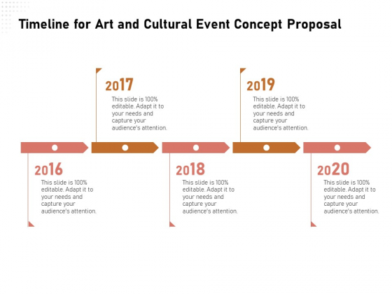Organizing Perfect Arts Culture Festival Timeline For Art And Cultural Event Concept Proposal Ppt Gallery Guide PDF