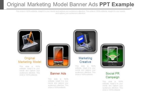 Original Marketing Model Banner Ads Ppt Example