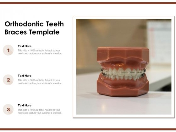 Orthodontic Teeth Braces Template Ppt PowerPoint Presentation Slide PDF