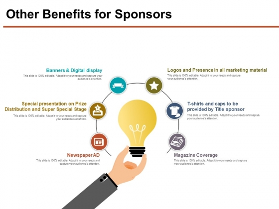 Other Benefits For Sponsors Ppt PowerPoint Presentation Outline Slide Download