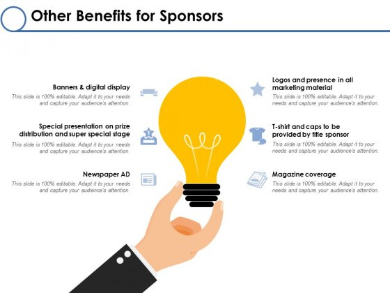 Other Benefits For Sponsors Ppt PowerPoint Presentation Pictures Rules