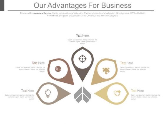 Our Advantages For Business Ppt Slides