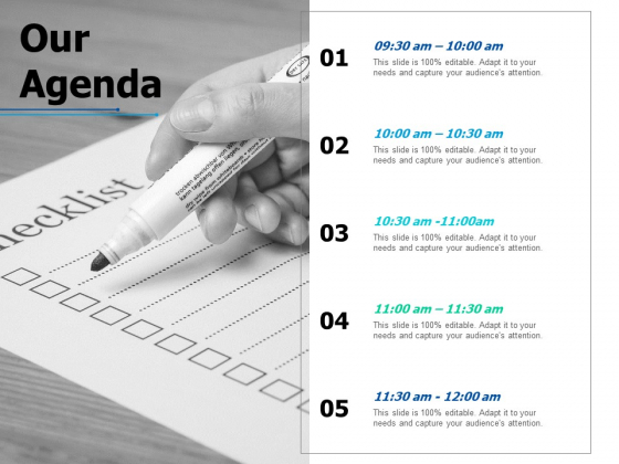 Our Agenda Business Ppt PowerPoint Presentation Infographics Outline