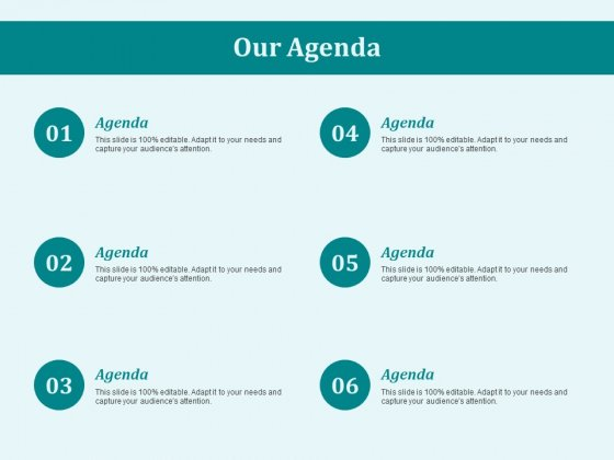 Our Agenda Business Ppt PowerPoint Presentation Summary Graphics Template