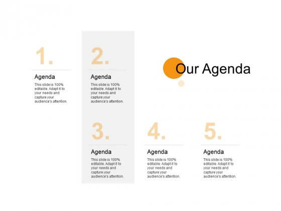 Our Agenda Management Ppt PowerPoint Presentation Slides Example Topics