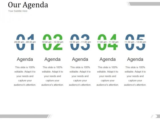 Our Agenda Ppt PowerPoint Presentation Design Templates