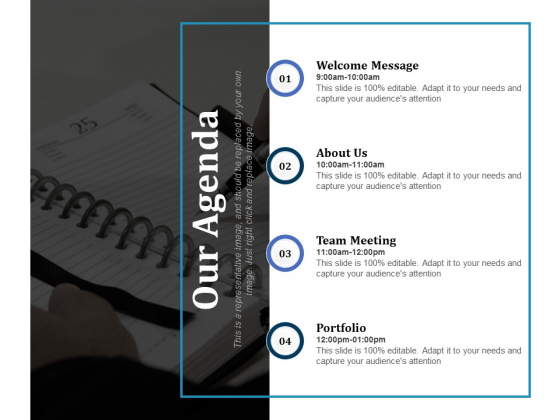 Our Agenda Ppt PowerPoint Presentation Infographic Template Example Topics