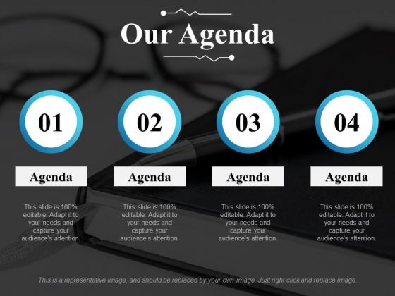 Our Agenda Ppt PowerPoint Presentation Portfolio Inspiration