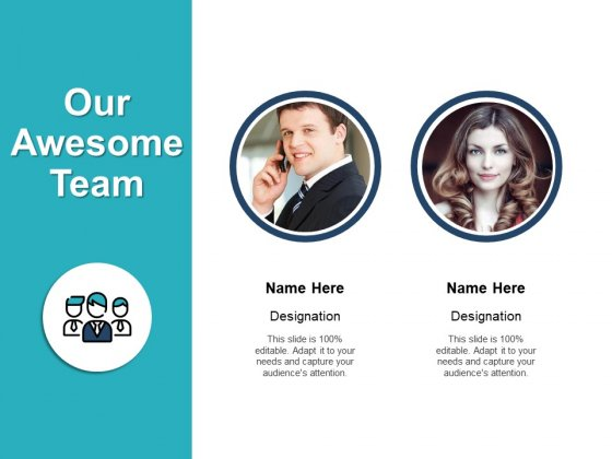 Our Awesome Team Introduction Ppt PowerPoint Presentation Styles Designs Download