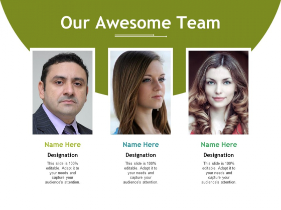 Our Awesome Team Ppt PowerPoint Presentation Layouts Slide Download