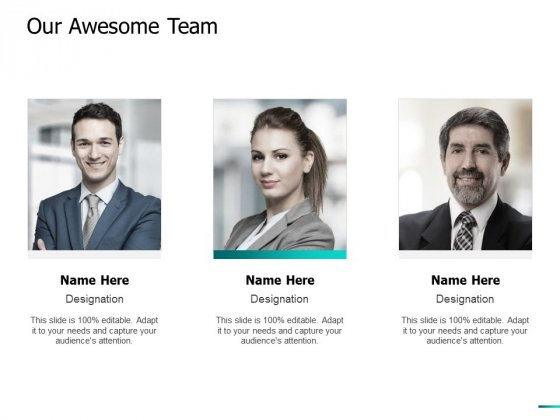 Our Awesome Team Ppt PowerPoint Presentation Model Picture