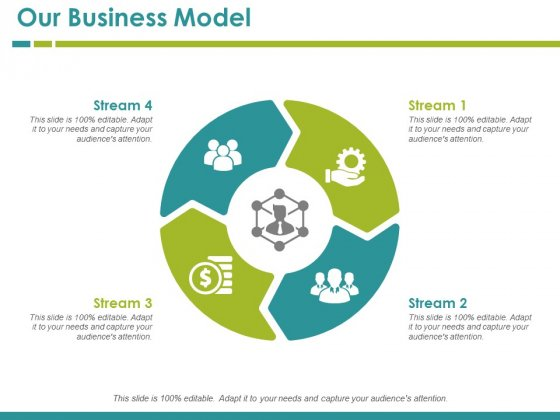 Our Business Model Template 2 Ppt PowerPoint Presentation Portfolio Background