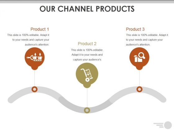 Our Channel Products Template Ppt PowerPoint Presentation Layouts Designs